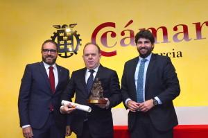 La Cámara de Comercio reconoce la trayectoria de Pedro Cánovas