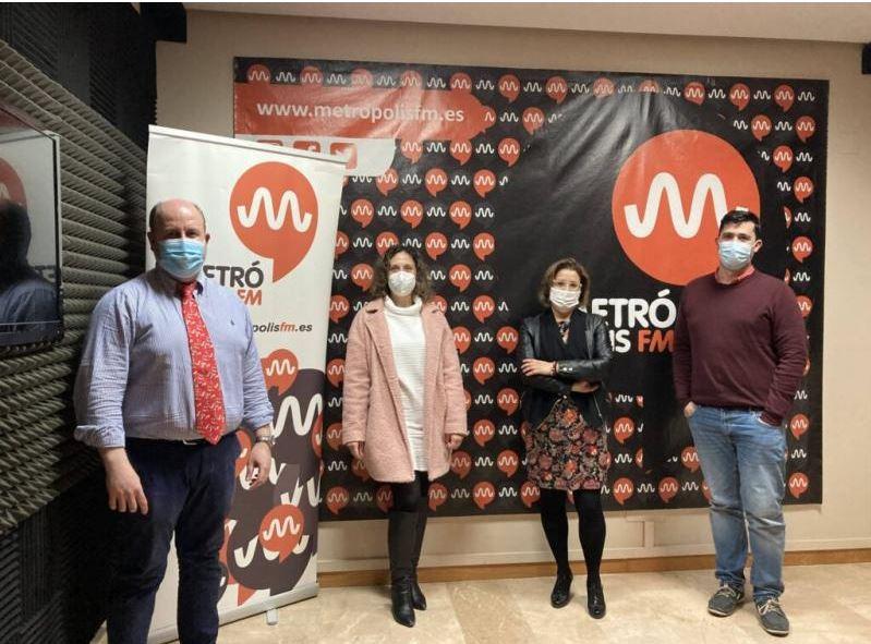 Francisco Martínez, Gema del Cerro, María Meseguer y Alejandro Evlampiev en Metrópolis FM Región de Murcia