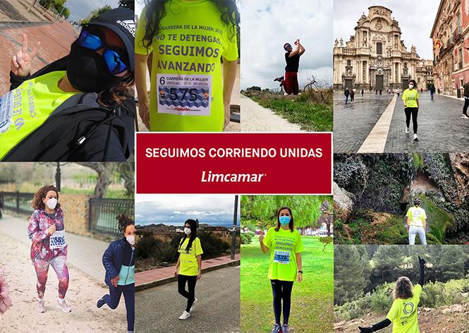 Imágenes de algunas de las participantes en la carrera